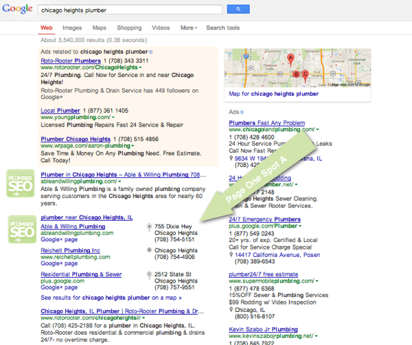 Plumber SEO Case Study - Chicago Heights Plumber