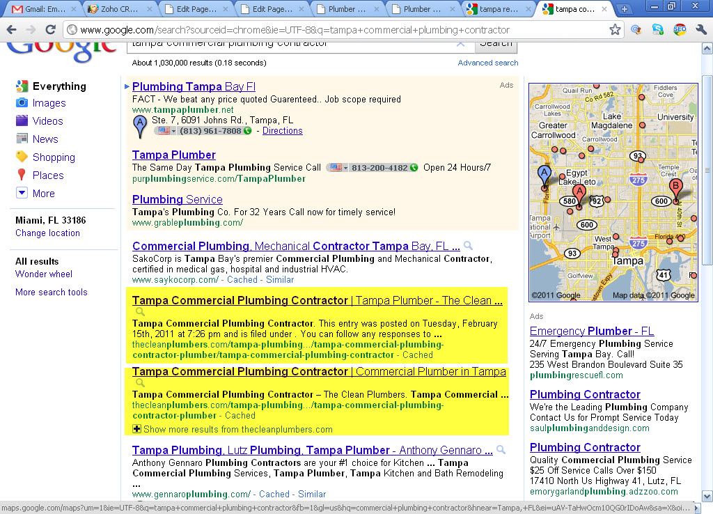 Plumber SEO Case Study - Tampa Commercial Plumbing Contractor