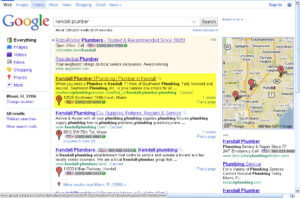 SEO for Plumbing Contractors - Case Study - Kendall Plumber