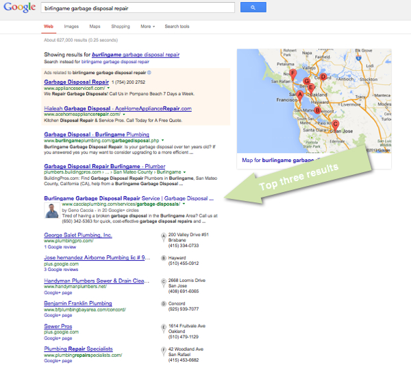 Plumber SEO Case Study - Birlingame Garbage Disposal Repair